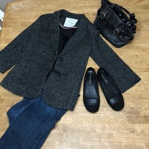 Gray or heather blazer jacket